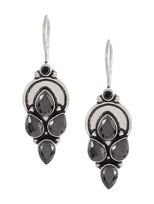 Black Silver Tone Handcrafted Earrings