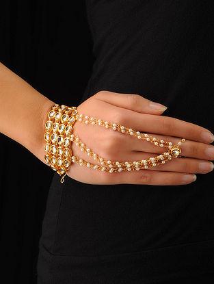 Classic Bold Kundan Hand Bracelets - Set Of 2