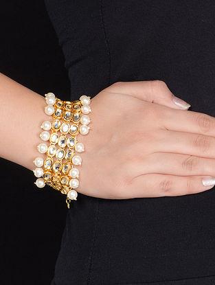 Golden-Ivory Kundan Bracelet