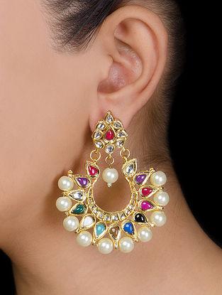 Half-moon Kundan Earrings