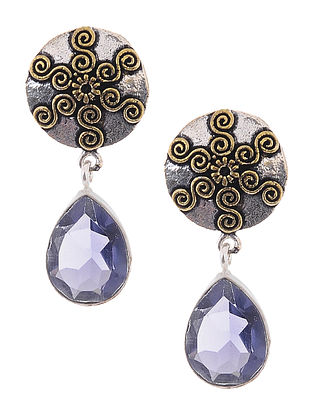 Purple Dual Tone Earrings