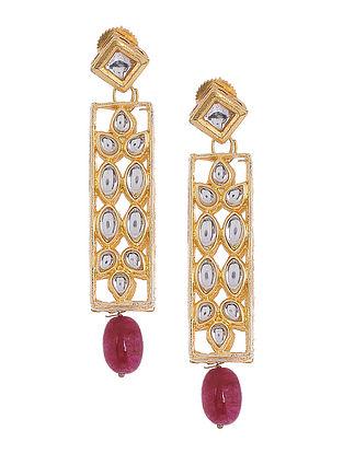 Kundan Inspired Earrings with Beads