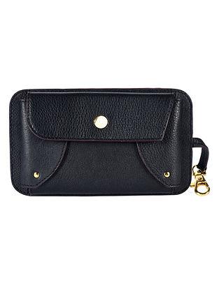 Black Genuine Leather Mobile Bag