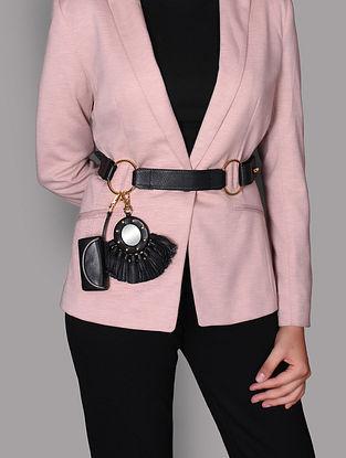 Black Genuine Leather Belt Bag