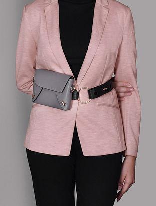 Taupe Genuine Leather Sling Cum Belt Bag