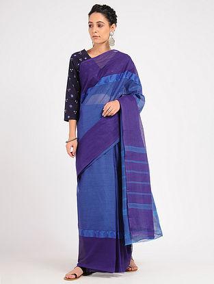 Blue Kanjivaram Cotton Saree