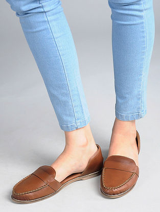 Brown Handcrafted Loafers