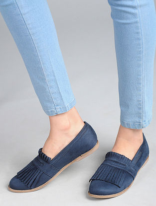 Blue Handcrafted Loafers