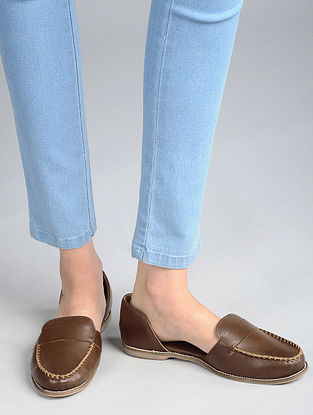 Dark Brown Handcrafted Loafers