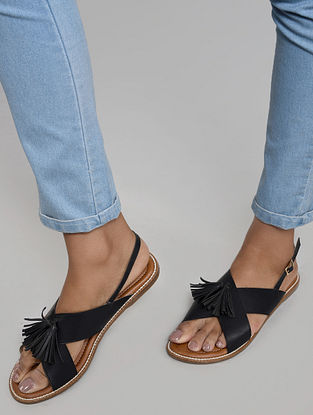 Navy Blue Handcrafted Sandals