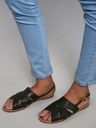 Dark Green Handcrafted Sandals