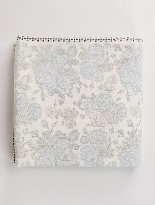 Summer Snow White-Multicolor Handblock Printed Cotton Dohar