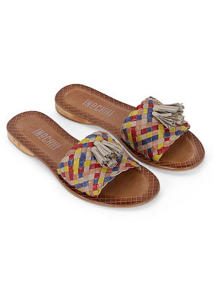 Multicolor Handcrafted Genuine Leather Flats