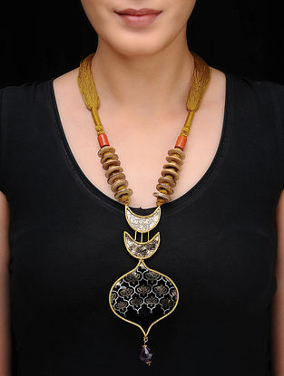 Brown Gold-plated Silver Necklace