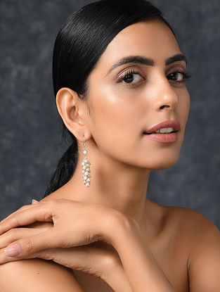 Classic Silver Earrings with Freshwater Pearls