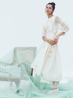 Ivory Sitara Hand Embroidered Cotton Pants