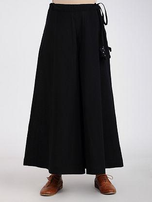 Black Khadi Cotton Palazzos