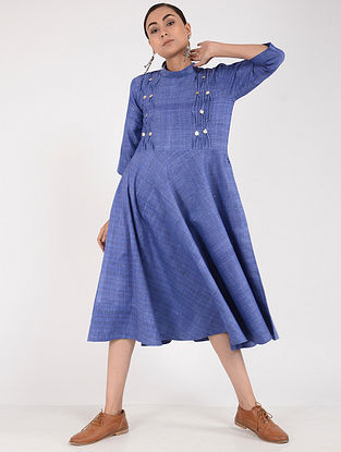 Blue Khadi Dress