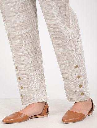 White-Brown Khadi Pants