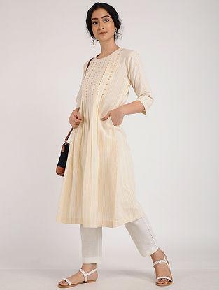 Yellow Ivory Khadi Cotton Kurta
