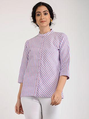 Pink Blue Khadi Cotton Tunic
