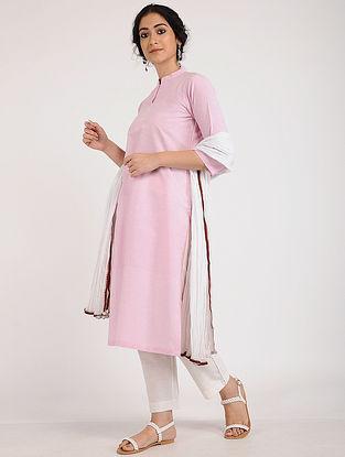 Pink Khadi Cotton Kurta