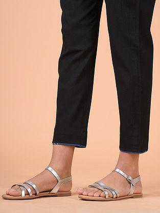 Black Khadi Cotton Pants with Lining