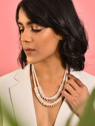 Freshwater and Baroque Pearl Beaded Necklace