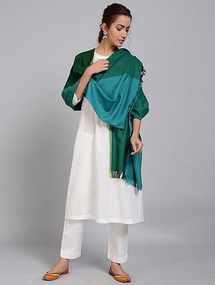 Green-Blue Merino Wool Shawl