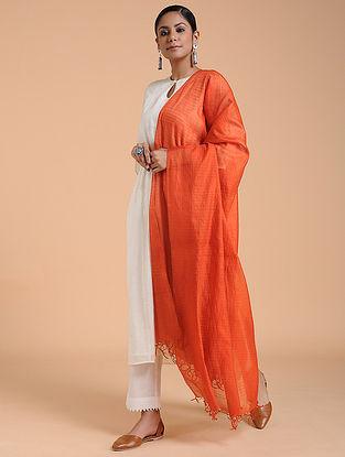 Red Cotton Silk Dupatta