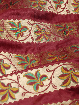 Maroon Benarasi Silk Georgette Fabric