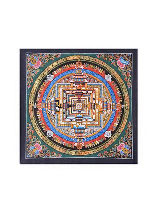 Multicolored Textile Art (17in x 16.5in)