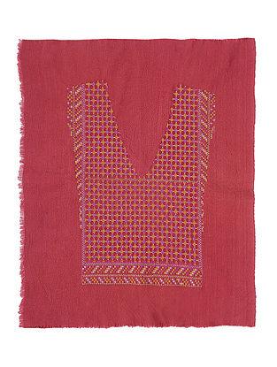 Pink Cotton Yoke with Cross-stitch Embroidery