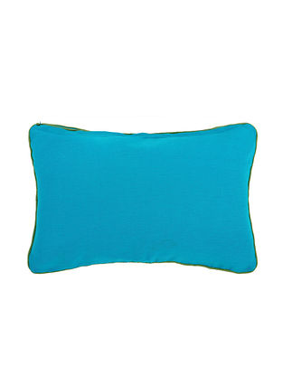 Blue Cotton Cushion Cover (L:20in, W:12in)