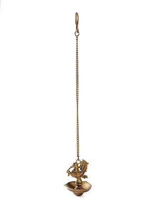 Brass Hanging Diya (L:4in, W:4in, H:5in)
