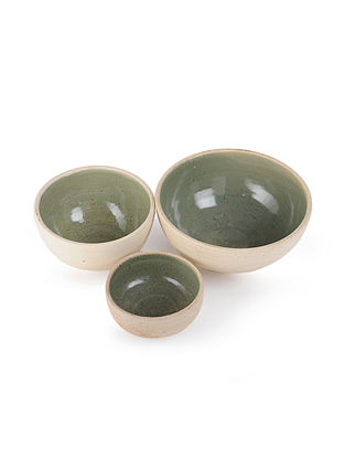 Ceramic Bowls (Set of 3) (L:8in, W:8in, H:3.5in)