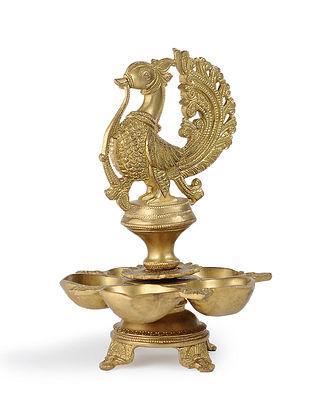 Brass Bird Oil Lamp (L:7.6in, W:7.6in, H:11.5in)