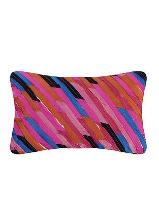 Multicolored Cotton Cushion Cover (L:19.5in, W:11.5in)