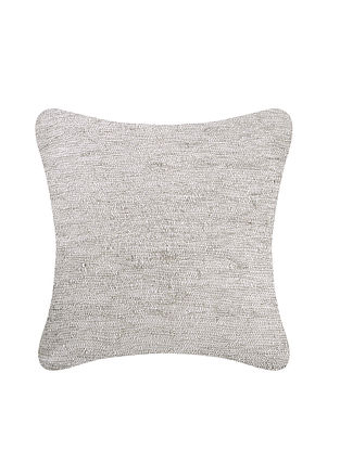Grey Cotton Cushion Cover (L:25in, W:25in)