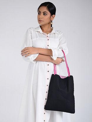 Black-Pink Handcrafted Tote Bag