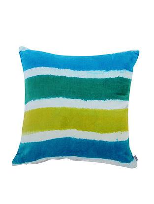 Multicolored Cotton Cushion Cover (L:16in, W:15in)