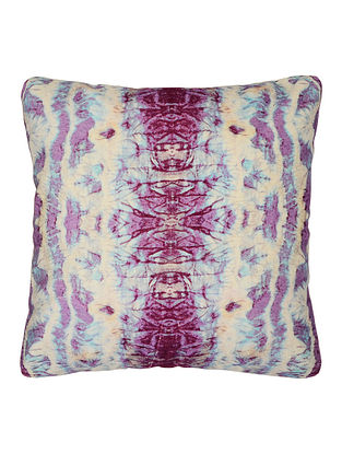 Purple Velvet Fractal Cushion Cover 17.5in x 17in