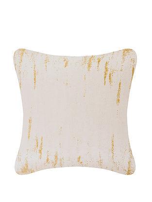 White Silk Cushion Cover (L:17.5in, W:17.5in)