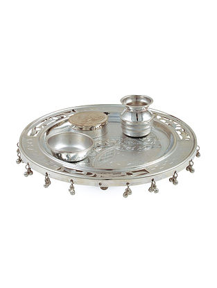Floral Sterling Silver Thali