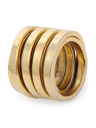 Gold-plated Brass Ring (Ring Size - 6)