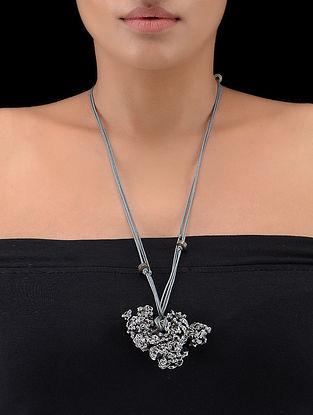 Grey Thread Necklace with Aluminium Pendant