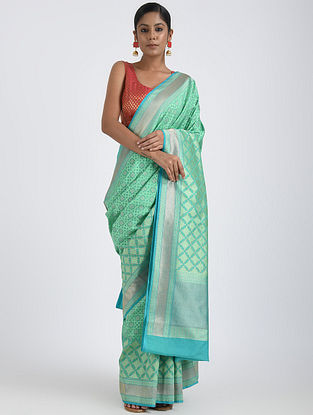 Sea Green Benarasi Georgette Saree