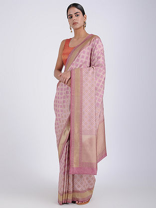 Purple Benarasi Georgette Saree