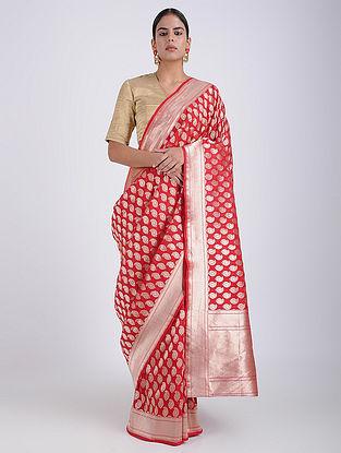 Pink Benarasi Silk Saree
