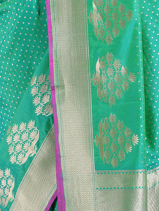 Green-Purple Benarasi Silk Saree